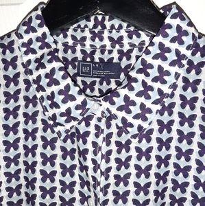 GAP butterfly button down shirt